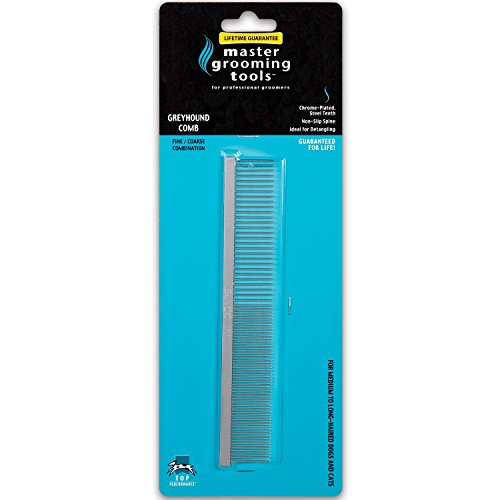 master-grooming-tools-fine-coarse-steel-greyhound-comb