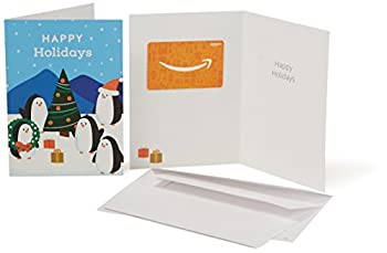 Amazon.com Gift Card In A Greeting Card (Holiday Penguins Design) 0