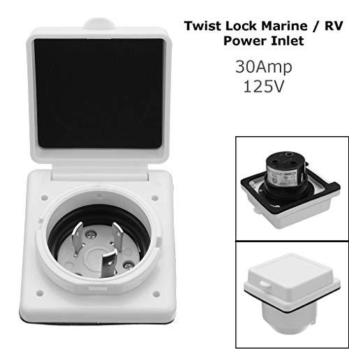 - Topfire 30A 125V Power Cord Twist Electrical Lock Boat RV Marine Inlet Car RV Marine Sockets Waterproof Electrical Sockets