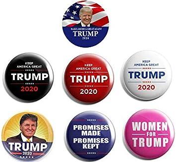 """6-pack MEMORABILIA 2020 DONALD TRUMP for PRESIDENT 2.25/"""" CAMPAIGN BUTTON PIN"""