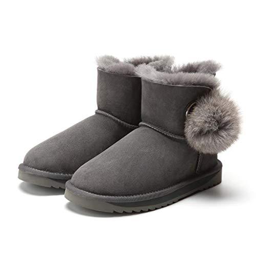 Invernali Outdoor Size Scarpe Un In Vestiti I Rotonda Gray Testa Scarponi Calda Da Neve E Adatta 36 Tutti Pelle Camping Gray A Lana Con Passeggio Piede color wSvO1q7