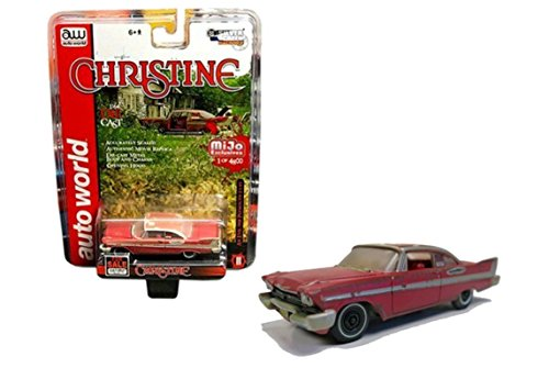 1958 Plymouth Fury Christine Dirty Version EXCLUSIVE 1/64 By Auto World CP7440 Version Diecast Car Model