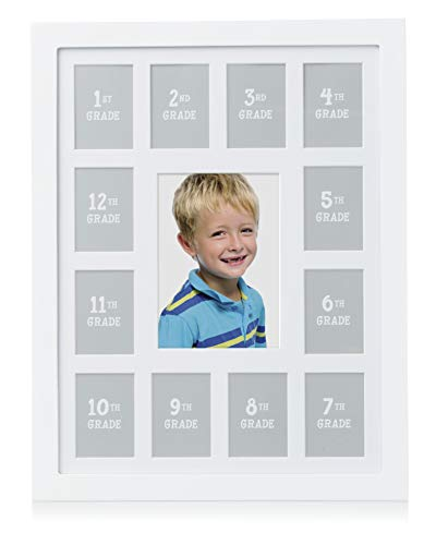 Day Picture Frame - Pearhead K-12 School Days Picture Frame, Capture Memories and Celebrate Milestones from Kindergarten to 12th Grade Graduation