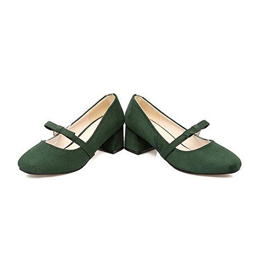 BalaMasa Apl10273, Sandales Compensées femme Vert Militaire