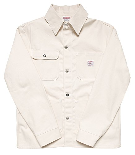 Pointer Brand Natural Drill Chore Coat M white drill by Pointer