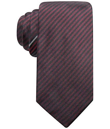 Alfani Mens Silk Striped Neck Tie Red -