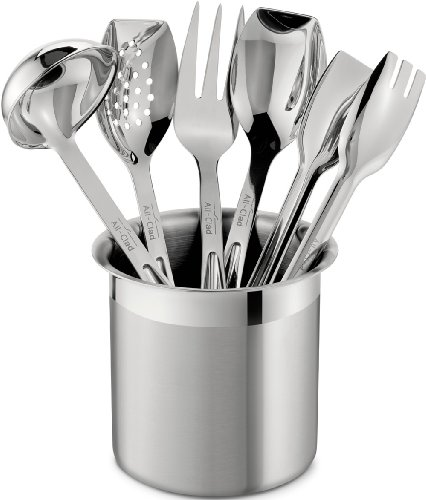 All Clad Stainless Kitchen 6 Piece Silver