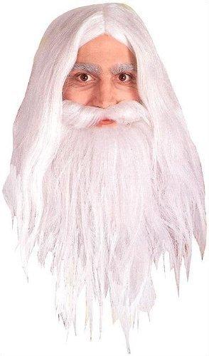 Gandalf The White Costume (Gandalf Wig and Beard Set Costume)