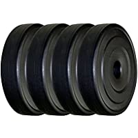 BODY MAXX PVC Weight Plates 10 Kg x 2 Pcs (Black)