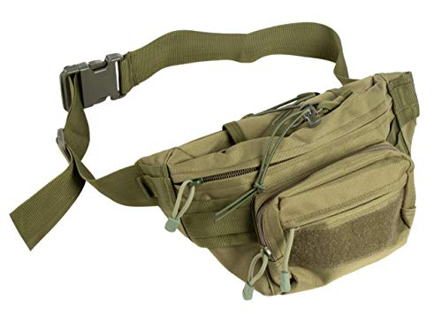 Juvale Tactical Fanny Pack - MOLLE Fanny Pack, Military Waist Pack, Portable Large Waist Belt Hip Bag, Bumbag, for Daily, Hiking, Climbing, Camping, Fishing, Traveling, Shopping, Outdoor, Army Green
