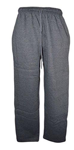 Bas 3xl Survêtement Aussi Taille Tailles Pantalons Ouvert Anthracite Xxl Gris 6xl Ourlet Plus Jogging À Molleton Hommes M twqE8Pgg