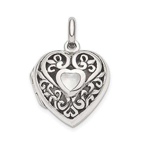 925 Sterling Silver Heart Photo Pendant Charm Locket Chain Necklace That Holds Pictures Fine Jewelry Gifts For Women For Her