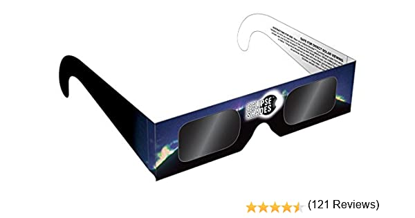 eclipse glasses - safe solar eclipse glasses and viewers - 5 pack ...