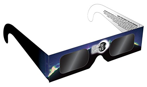 Eclipse Glasses - ISO and CE Certified Safe Solar Eclipse Shades - Viewer and filters (5 Pack)