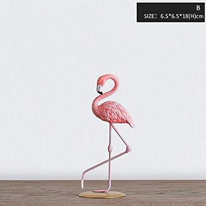 Amazon Miz 1 Piece Pink Flamingo Home Decoration Ornament Art Decor Figure B Kitchen