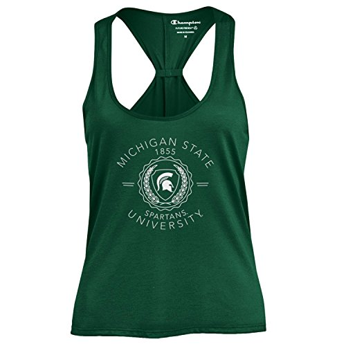 Champion NCAA Women's Swing Silouette Racer Back Tank Top, Michigan State Spartans, - Gear Fan State Michigan