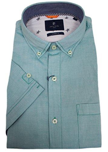 Cardin Camisa Hombre Para Verde Casual De Pierre Con Menta Ocio Manga Corta Botones Fq5dWzwx