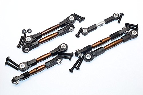 Tamiya TT02B Upgrade Parts Spring Steel Turnbuckle With Plastic Ends - 7 Pcs Set by GPM