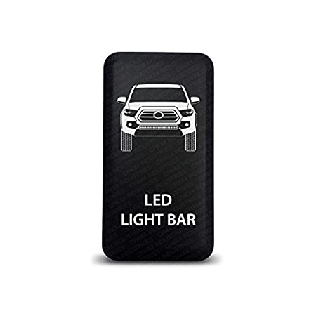 CH4X4 Push Switch for Toyota Tacoma 3rd Gen - Led Light Bar Symbol 2 - White LED CH4x4 Industries