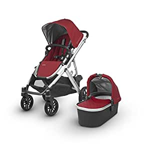 2018 UPPAbaby Vista Stroller -Denny (Red/Silver/Black Leather)