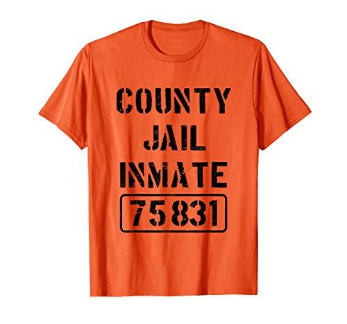 Prisoner County Jail Inmate Costume | Halloween T-shirt]()