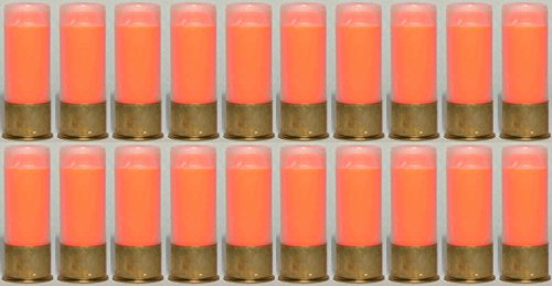 ST Action Pro Pack Of 20 Inert 12 GA 12GA Gauge Shotgun Orange Safety Trainer Cartridge Dummy Ammunition Ammo Shell Rounds with Brass Case