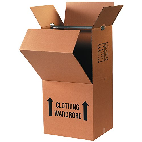 Partners Brand PWARDCOMBOMS Pre-Printed Wardrobe Moving Boxes, 20