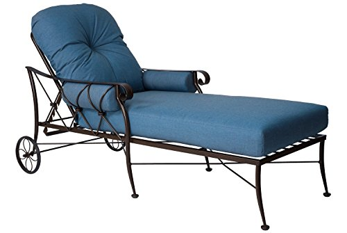 Adjustable Chaise Khaki - Woodard  Derby Adjustable Chaise Lounge, Khaki, Fife Bark