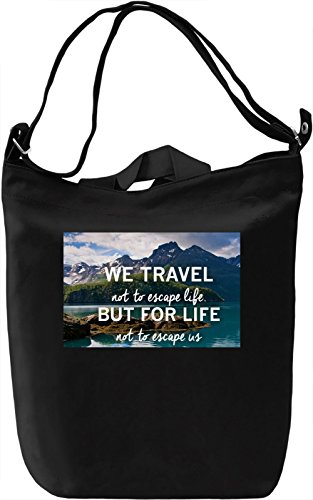 We Travel Borsa Giornaliera Canvas Canvas Day Bag| 100% Premium Cotton Canvas| DTG Printing|