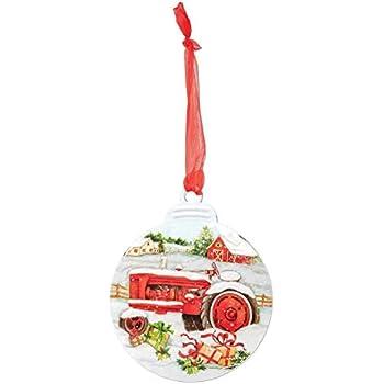 Tractor Scene Ornament Key Enterprises Features Two Farmall Tractor Scenes 12233 Inc