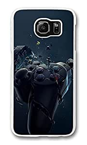 VUTTOO S6 Case, Joystick Rupture Cute Ultra Fit Black Bumper Shockproof Case For Galaxy S6 Customizable Hard PC Samsung Galaxy S6