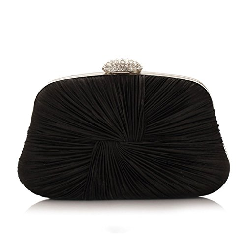 Prom Bridal Party Bag Handbag Black Women Shoulder JAGENIE Fashion Lady Black Purse Evening Clutch Z0FnRTx