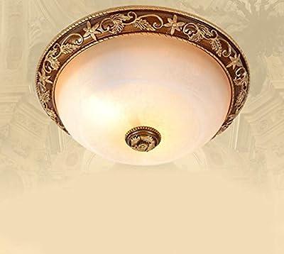 Jingzou High European ceiling retro small living room bedroom glass ceiling lamp lighting