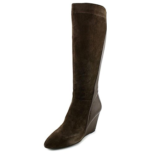 Charles By Charles David Womens Easton Zeppa Stivale Scamosciato Marrone Scuro Liscio