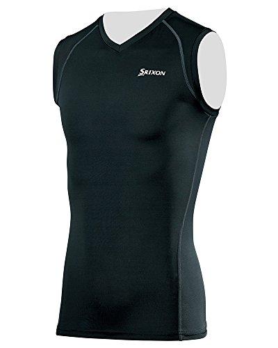 DUNLOP(ダンロップ) SRIXON ノースリーブ Vネックシャツ メンズ SMA6003 ブラック×チャコールグレー M