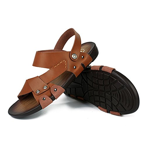 Beach Men's Athletic Brown Fisherman Summer Sandals Heavy Sandal Toe MAC Outdoor Shoes U Duty Leather Open Oq5w0f0