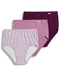 a8d921fb7c11 Women's Underwear Plus Size Elance Brief - 3 Pack, Vintage Mauve/Dotted  Tile/