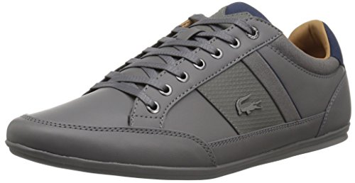 Lacoste Men's Chaymon Sneakers,DKGRY/Nvy Synthetic,10.5 M US by Lacoste