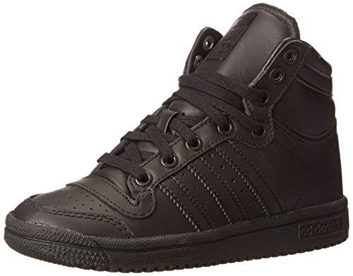 (adidas Originals Top Ten Hi C Basketball Sneaker (Little Kid/Big Kid), Core Black/Black/Black, 2 M US Little Kid)