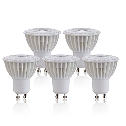 (Silicon controlled Dimmable GU10 LED Bulb 5W (45W equivalent), 450 Lumens 3000K(Soft White) CRI 90+ Flood Light Bulb 38 Degree Beam Angle Spotlight-Listed(Pack of 5))
