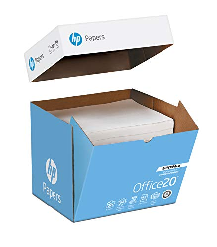 Letter Purpose Multi Paper Hp - HP Printer Paper, Office20 Paper, 8.5 x 11 Paper, Letter Size, 20lb Paper, 92 Bright, 1 Quickpack Case / 2,500 Sheets (112103C) - NO REAM WRAP