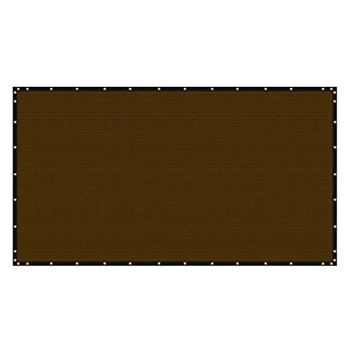 Fence No Pet See - ColourTree 4' x 50' Brown Fence Privacy Screen Windscreen, Commercial Grade 170 GSM Heavy Duty, We Make Custom Size