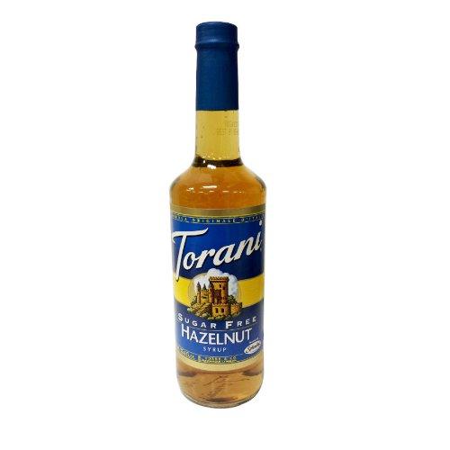 Torani 750mL Sugar Free Hazelnut Flavoring Syrup, Case of 12 by Torani