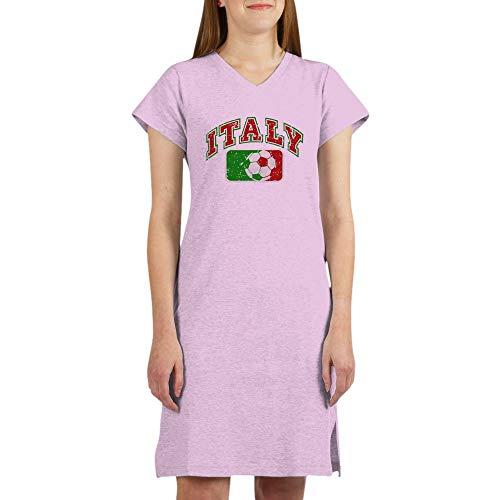 Royal Lion Women's Nightshirt (Pajamas) Italy Soccer Grunge Italian Flag - Pink, XL