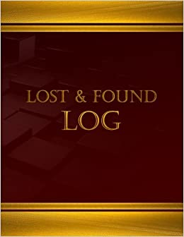 lost found log log book journal 125 pgs 8 5 x 11 inches