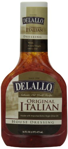 DeLallo Italian House Dressing, 16-Ounce Unit (Pack of 6)