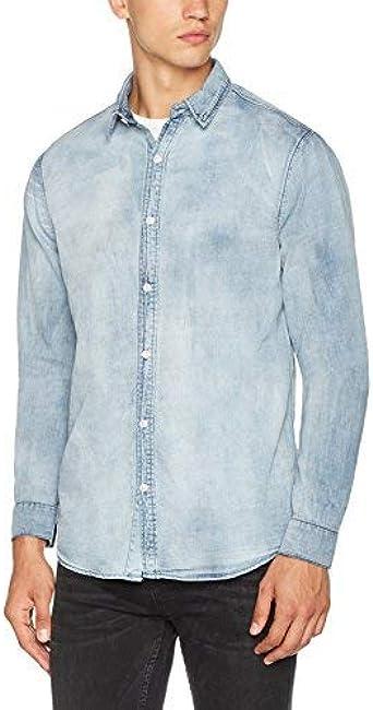 New Look 5182381 Camisa Vaquera, Azul (Azul Medio), XXL para ...