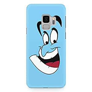 Loud Universe Genie Silheoutte Face Samsung S9 Case Aladdin Classic Cartoon Network Samsung S9 Cover with 3d Wrap around Edges