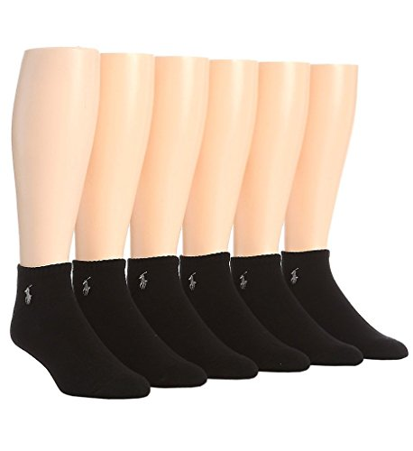 Polo Ralph Lauren Cushioned Cotton No Show Socks - 6 Pack (827001) O/S/Black