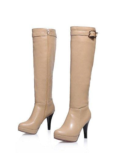 Casual Y Uk6 Punta Mujer Cn39 Stiletto Tacón us8 Redonda Vestido Xzz Trabajo cuero Cerrada Eu39 Zapatos Exterior Brown De Oficina Botas wFqnBXx6XP